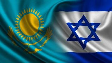 Флаг Казахстана и Израиля